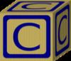 Alphabet Block  C  Clip Art
